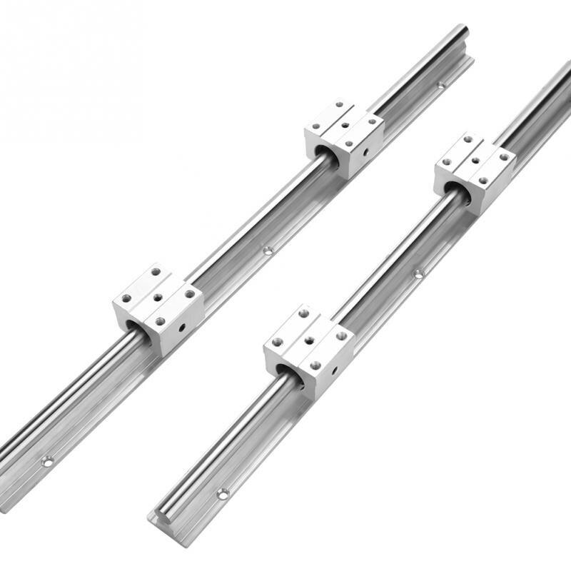 2Pcs SBR12 475mm Linear Slide Guide Shaft Rail With 4Pcs SBR12UU Bearing Block CNC Parts Kit