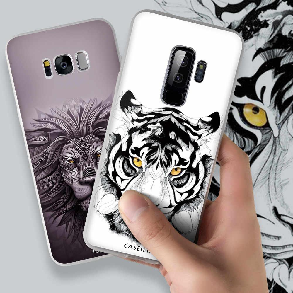 CASEIER สัตว์ Tattoo สำหรับ Samsung Galaxy A8 A7 A6 2018 J3 J5 J7 2017 Tpu สำหรับ Samsung s8 S9 Plus S6 S7 Edge Case