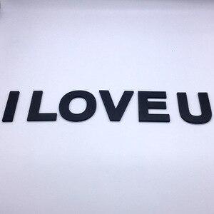 9 см/3,54 дюйма ПВХ черный верхний корпус английские буквы интерьер стены Сад Свадьба декоративные алфавит экологически чистые буквы