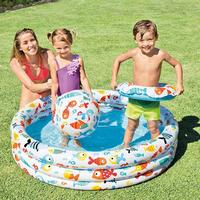 Inflatable Baby Swimming Pool 3pcs Portable Outdoor Baby Swimming Baby Tubs Round Basin Toys Summer Water Pool
