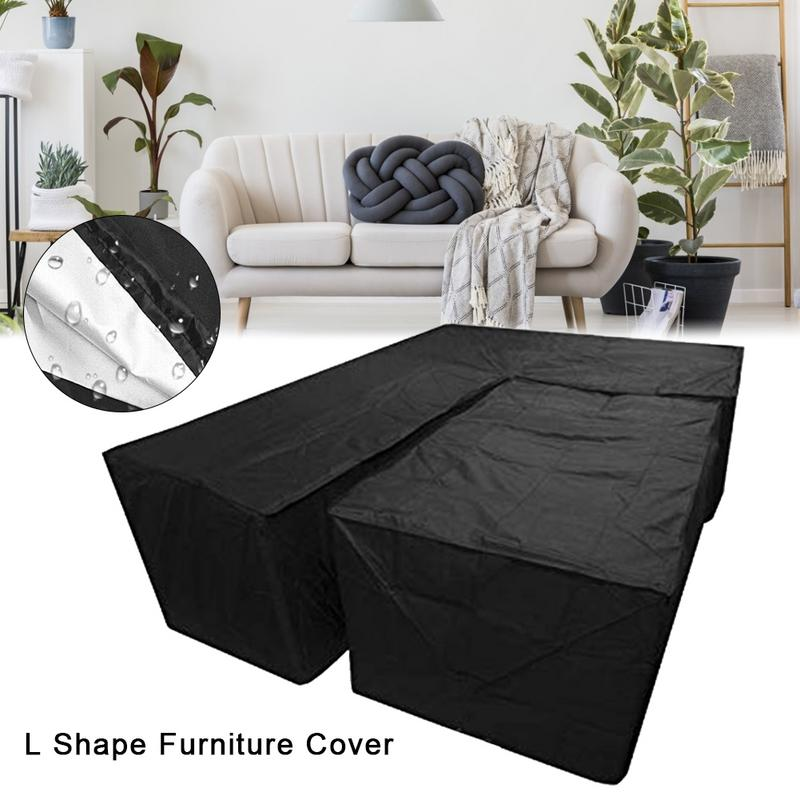Dust Covers Outdoor L Shape Corner Sofa Cover 3mx3m Balcony Patio Garden Furniture Cover Waterproof All-purpose Dustproof Covers Protection