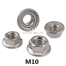 Hex-Flange-Nut Spacer Bolt Metric-Thread Stainless-Steel Hexagon M10 Plastic with A2-70