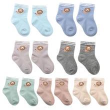 Детские хлопковые носки для мальчиков и девочек, осенне-зимние Носки с рисунком льва для детей 6-12 месяцев