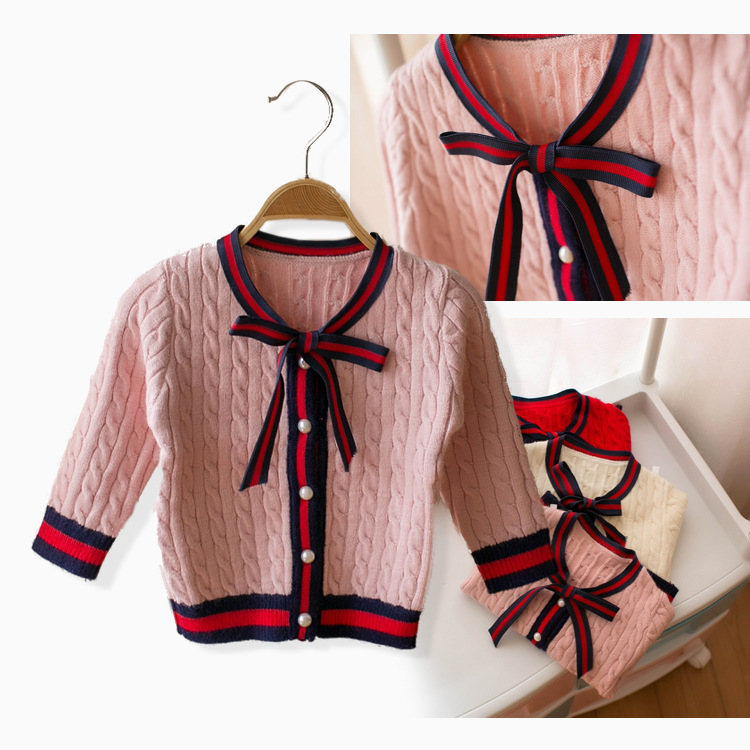 Mmtkids Childrens Garment Children Sweater Girl Bow School Wind Cardigan Sweater H255Mmtkids Childrens Garment Children Sweater Girl Bow School Wind Cardigan Sweater H255
