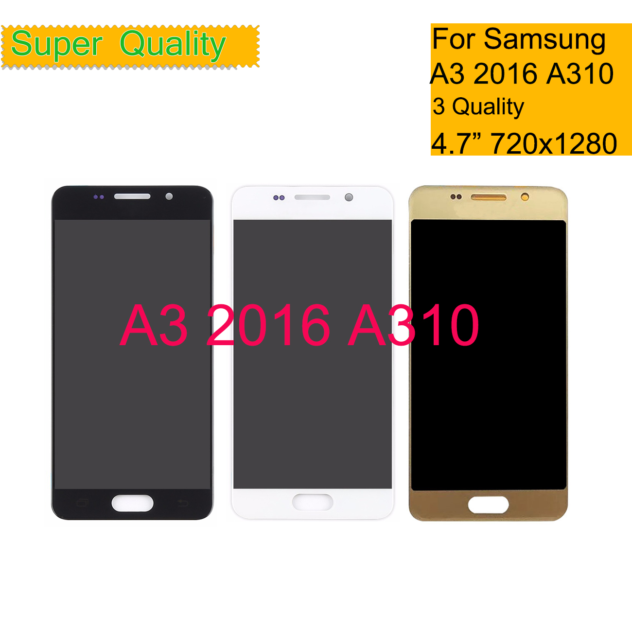 A310 For <font><b>Samsung</b></font> <font><b>Galaxy</b></font> <font><b>A3</b></font> 2016 A310 A310F A310H A310M Touch Screen Digitizer Glass <font><b>LCD</b></font> Display Panel <font><b>LCD</b></font> Assembly Complete image