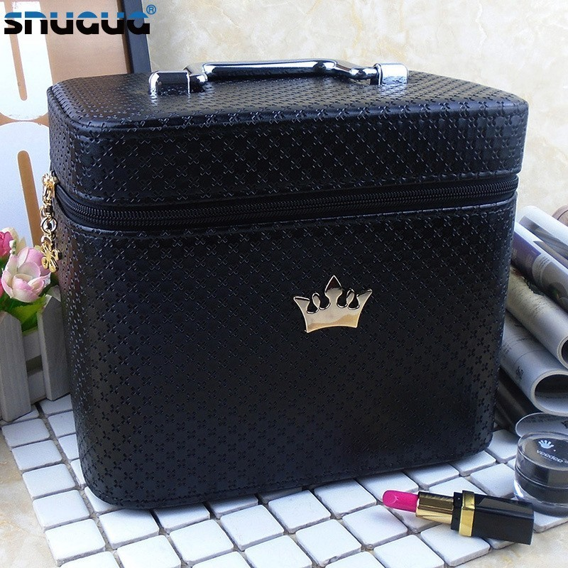 Suitcase Cosmetic-Bag Makeup-Case-Organizer Storage-Box Brush Professional Portable High-Quality