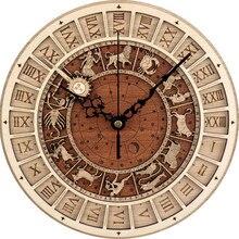 Новые часы в античном стиле, астрономические 3D настенные часы для дома, кварцевые винтажные бесшумные настенные часы с созвездием для комнаты