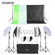 "Andoer Fotografie Licht Kit 33 ""Wit Zacht Licht Softbox met Lamphouder Licht Socket Light Stand met Mount Clip achtergrond"