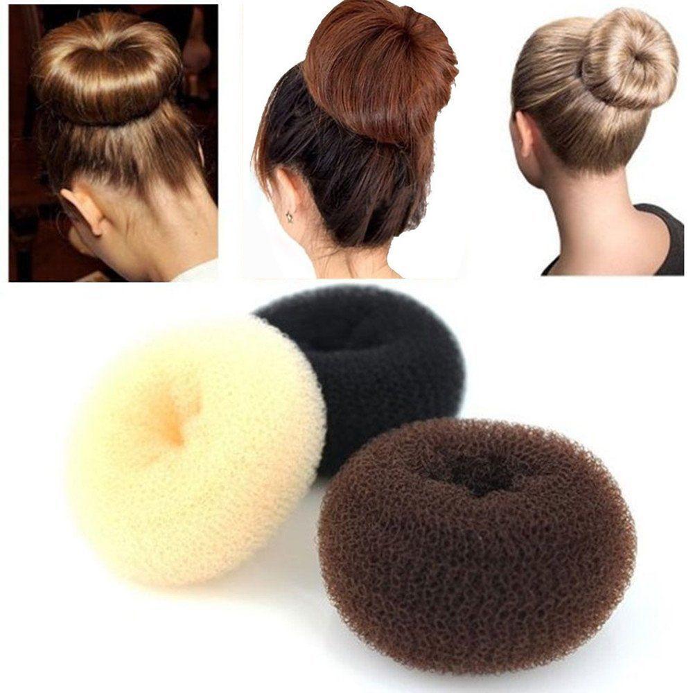 6cm/8cm/9cm Sponge Hair Styling Marking Tools Bun Head Plate Dispenser Hair Disk Elastic Hair Accessories Women Girls