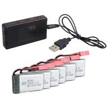 6x3,7 V 750 мА/ч, Батарея+ JST 6-в-1 Порты Зарядное устройство для MJX X400 X500 X800 RC Quad