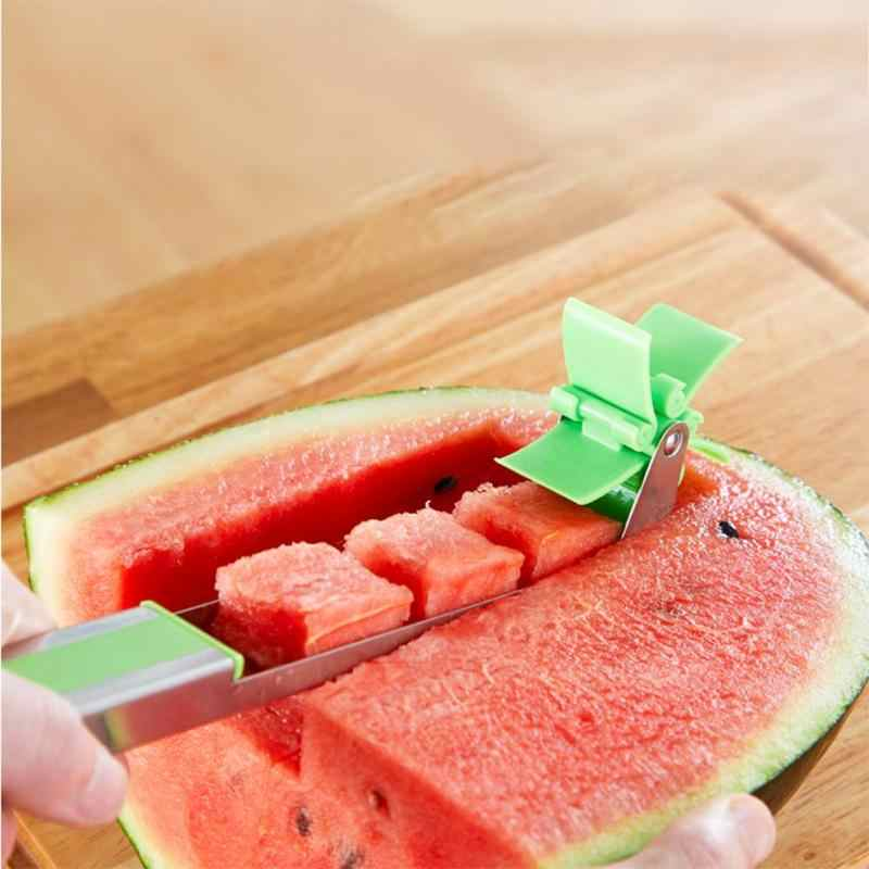 Windmill Watermelon Cantaloupe Slicer Cut Watermelon Artifact Roll Watermelon Section Cutting Device Fruits Tool Dropship