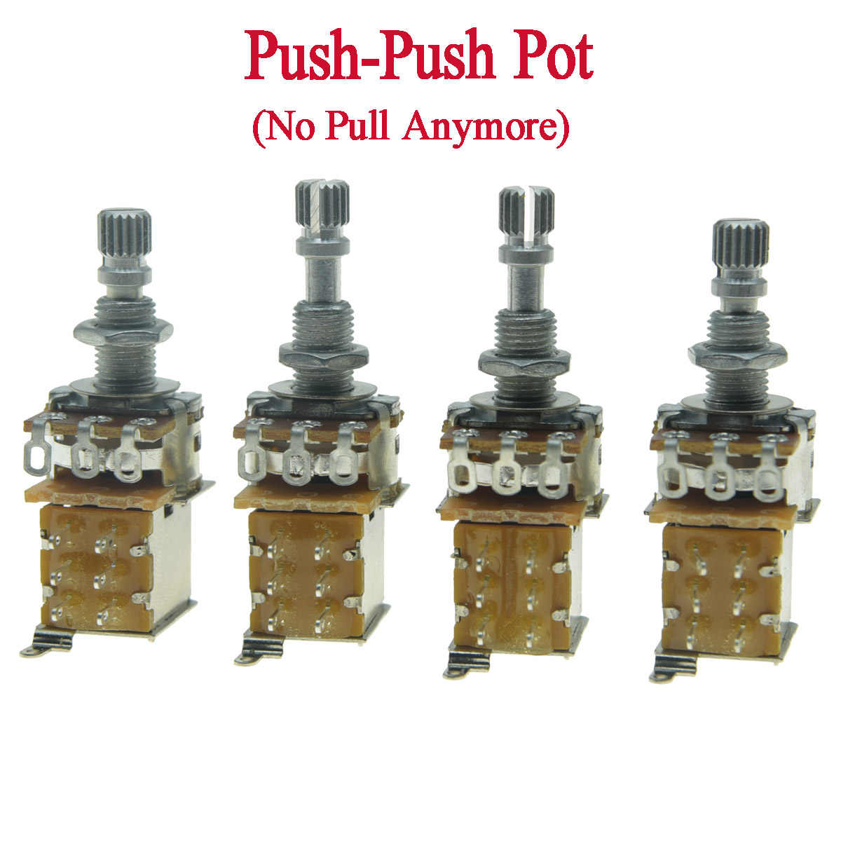 KAISH guitare basse Push Pot (sans tirer plus) Audio/linéaire cône guitare potentiomètre Pots A250K/A500K/B250K/B500K