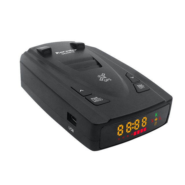 Karadar G820STR Radar Detectors Led 2 in 1 Radar Detector for Russia with GPS Car Anti Radars Police Speed Auto X CT K La 2