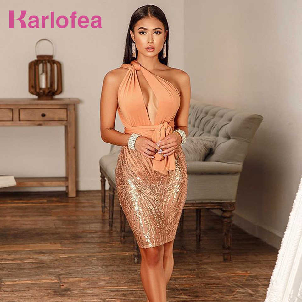 bb9e66941c Karlofea New Tassel Cloak Sleeve Party Dress Sexy Hollow Out Sequin ...