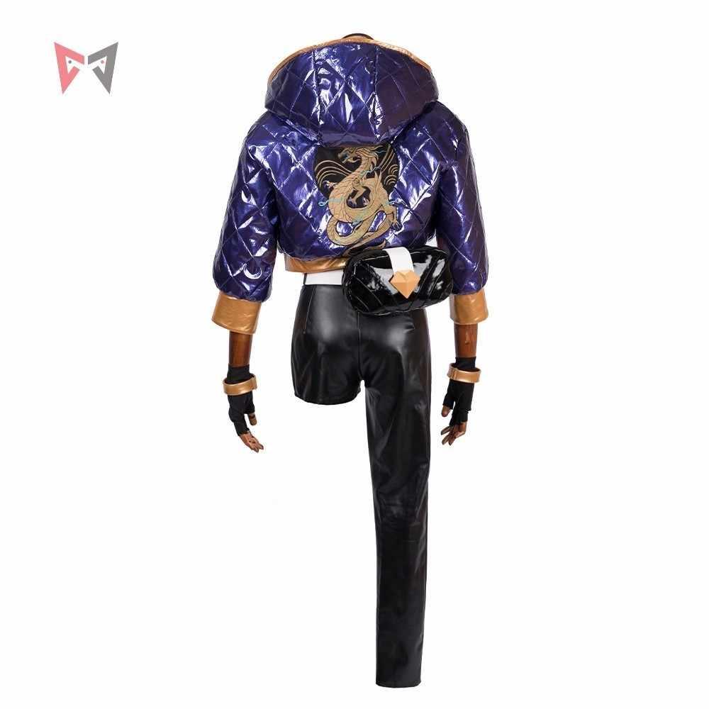 KDA Akali маскарадный костюм супергероини игра KDA женская одежда пальто брюки перчатки сумка маска парик шляпа серьги большой набор на заказ размер