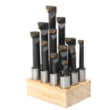 12 шт. 18 мм хвостовик F1 расточные бар набор для 3 дюймов расточной головки карбида наконечником фрезерный инструмент