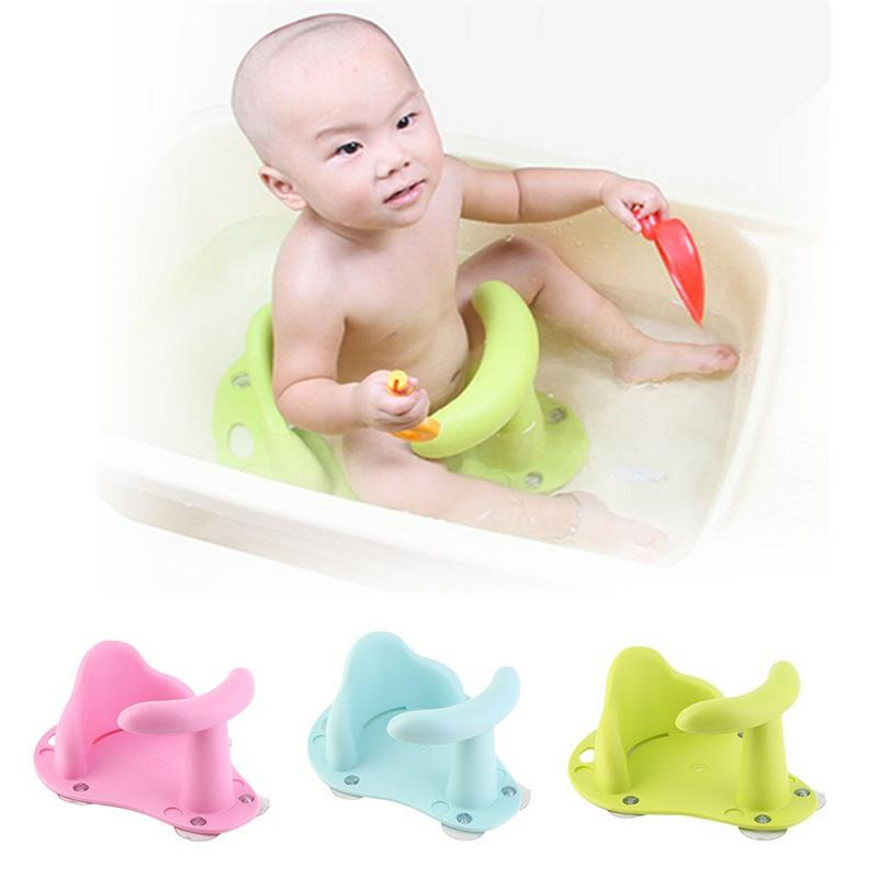 New Baby Bath Tub Seat Kids Anti Slip Safety Shower Seat Non-toxic Soft Comfortable Bath Chair For 1-3 Years Old Children