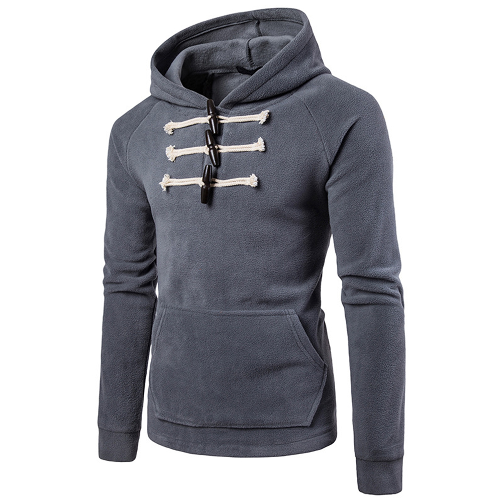 Costume Hoodies Spring Autumn Solid-Color Cotton Men Fashion Outdoor Casual Outfits Cool