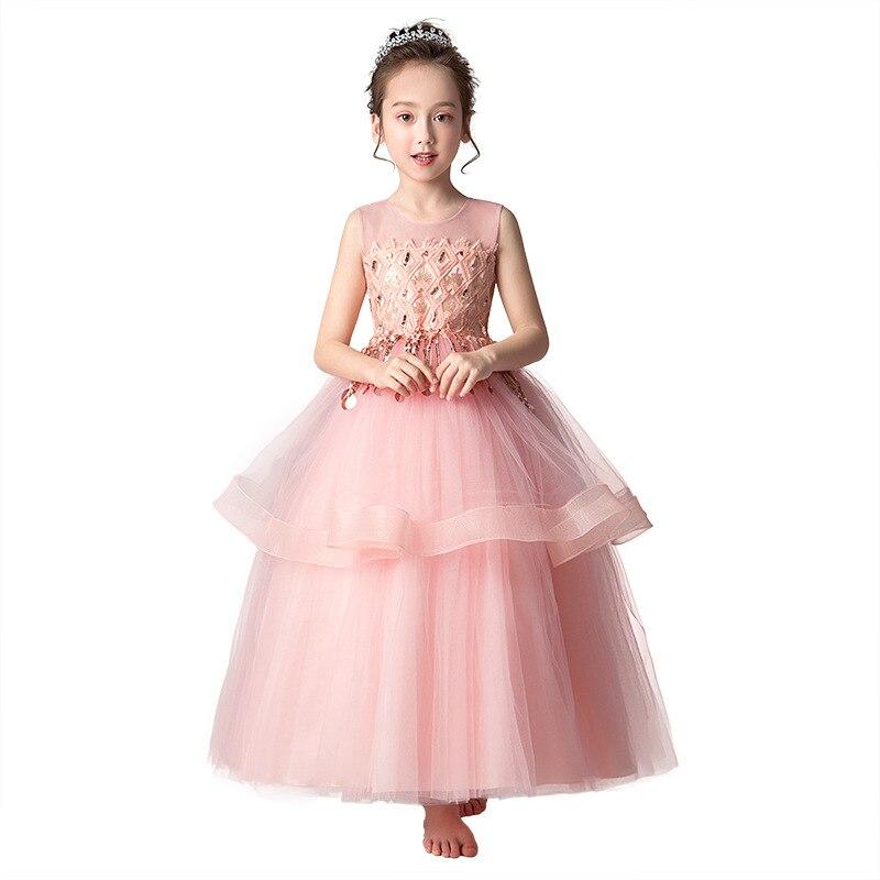 Блестящее выпускное вечернее платье с блестками для девочек подростков 6 16 лет, Летнее Длинное винтажное платье для девочек, детские платья,