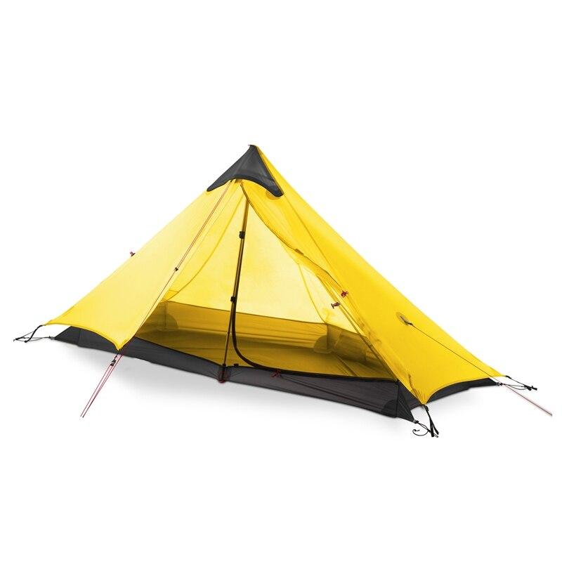 3F UL GEAR 1 человек Oudoor LanShan палатка для кемпинга 3 сезона 1 один человек профессиональный 15D нейлон силиконовое покрытие Бесшумная палатка