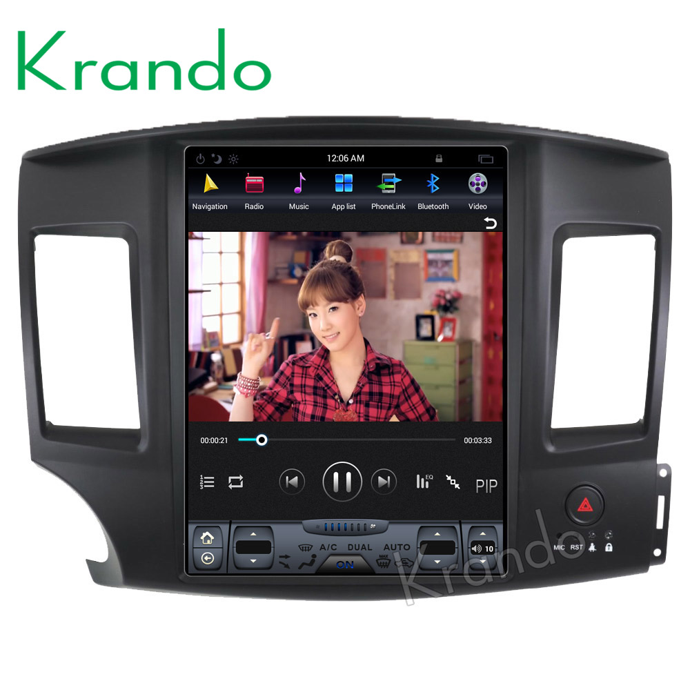 Krando Android 6 0 12 1 Tesla Vertical screen car radio player gps for Mitsubishi Lancer