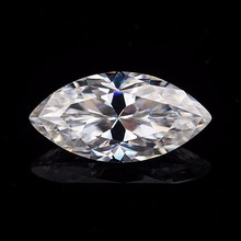 2.5*5mm  marquise cut White Moissanite Stone Loose Diamond 0.12 carat for Ring