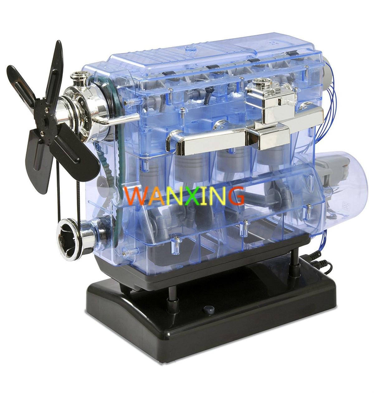 Engine Model Motor Drive Internal Combustion Engine Movable Engine Transparent Plastic Kit Physics Teaching Gift Hot Sale модель двигателя внутреннего сгорания