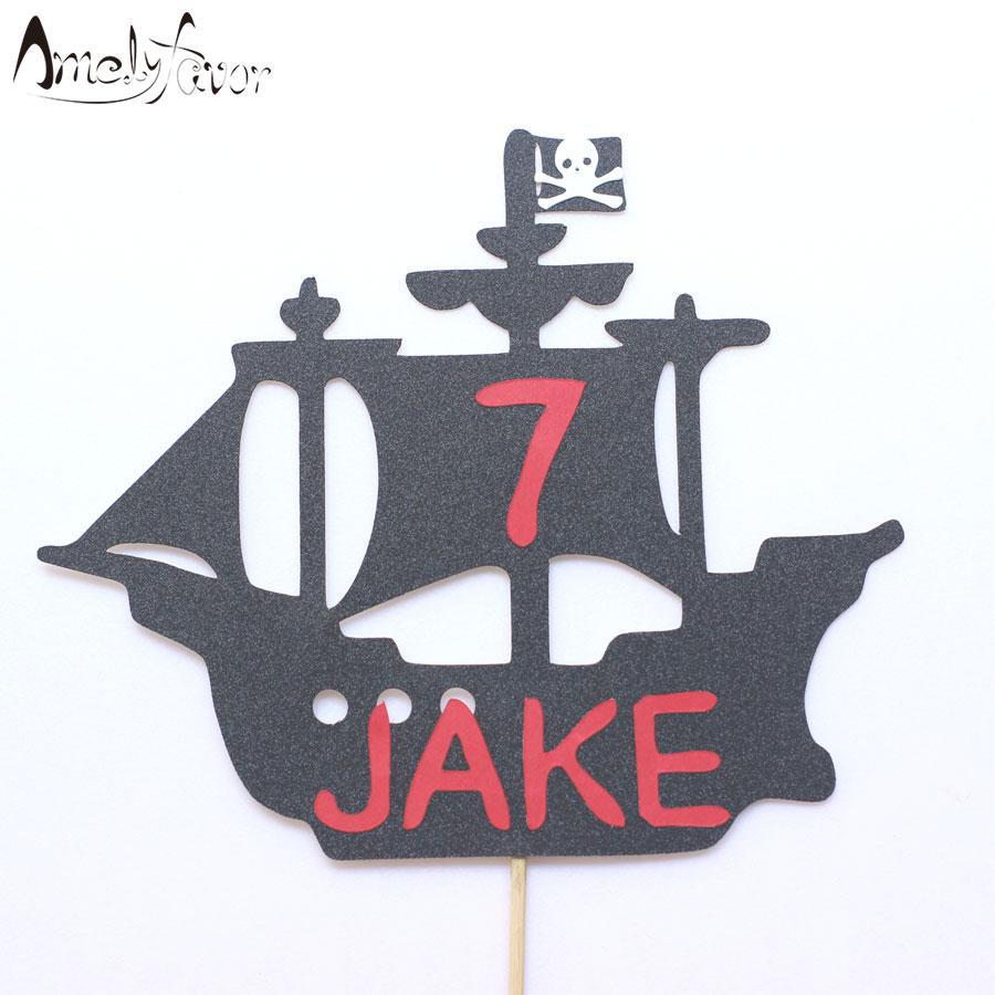 Aliexpress.com : Buy Pirate Ship Cake Topper Pirate Party ...