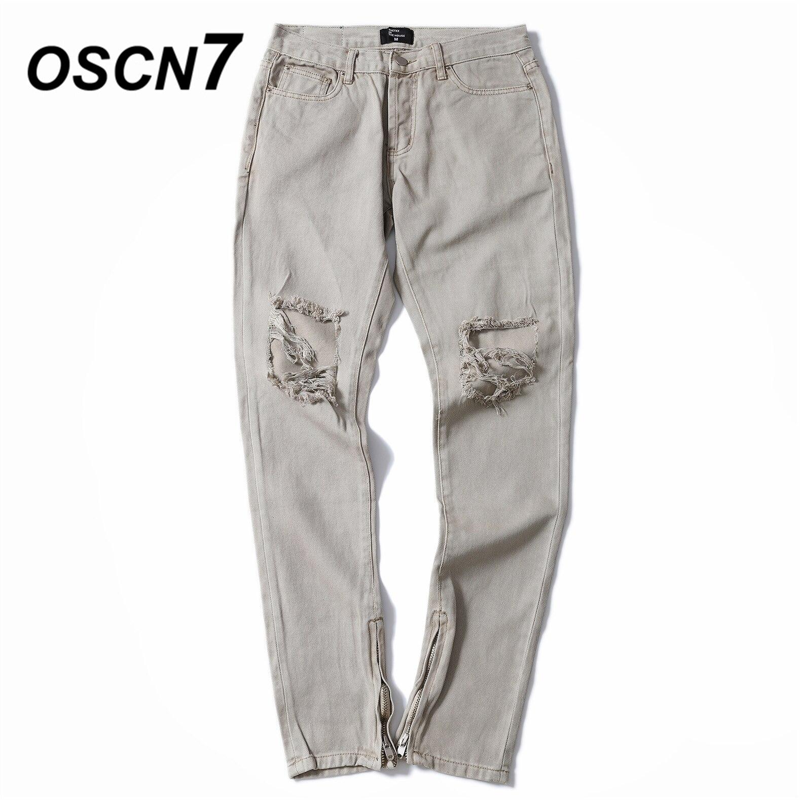 Hop Hommes wqBRBFYS Gzt010 Noir Trou Solide Jeans Streetwear Mode Haute Denim Pantalon Couleur Oscn7 Hip kaki gOw6ZqB