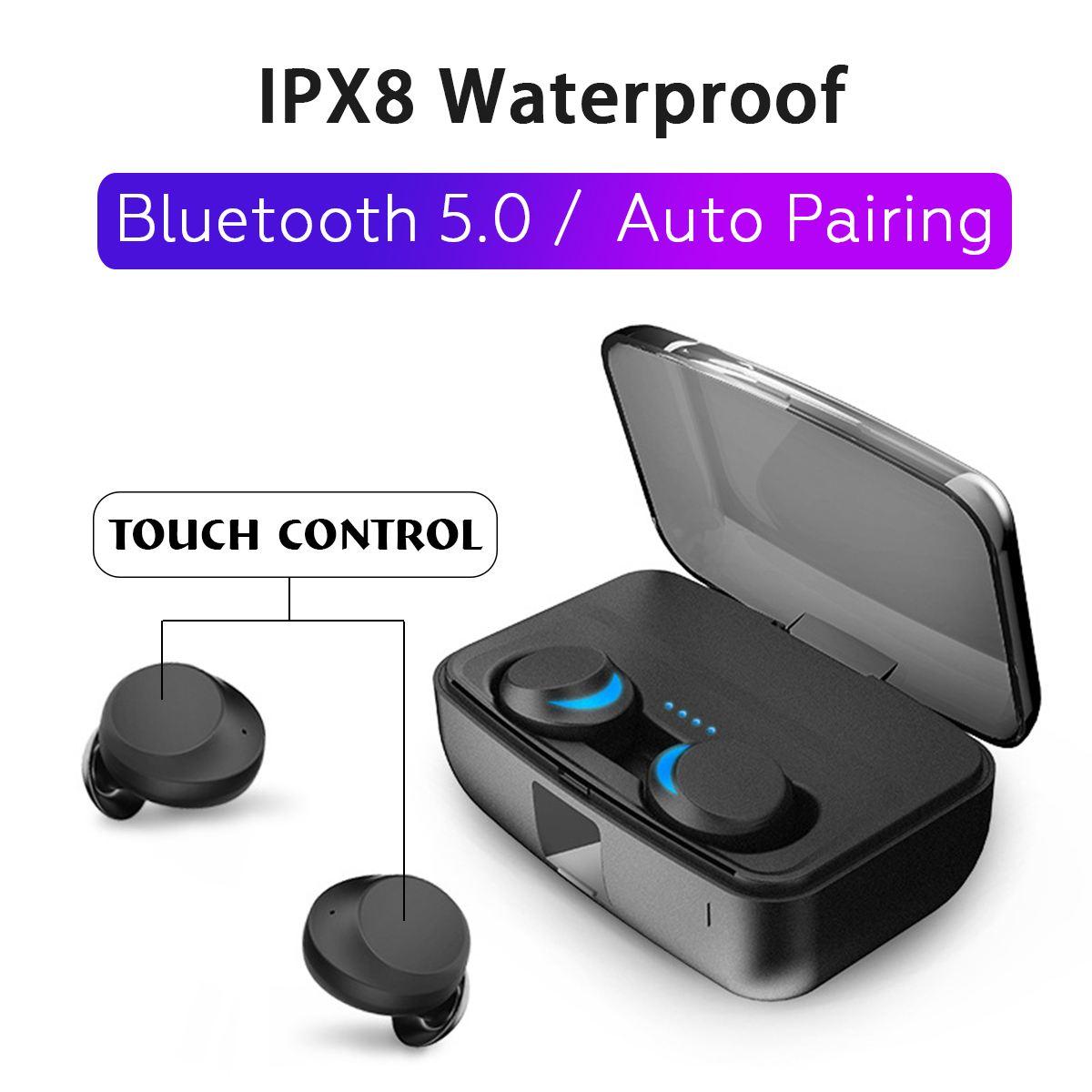 Bluetooth 5,0 туры Беспроводной наушники мини СПЦ наушники беспроводные близнецов стерео IPX8 Спорт подводная гарнитура 3000 mAh зарядки коробка