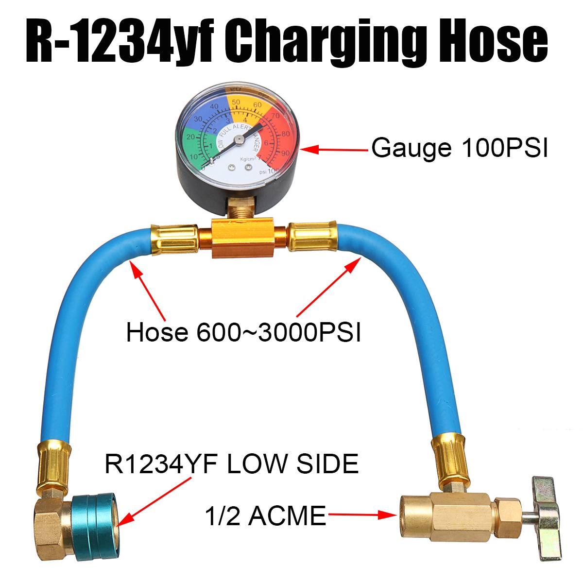 a c r 1234yf charging hose with manifold gauge couplers kit for car air conditioning a c refrigerant pressure charging hose in air conditioning installation  [ 1200 x 1200 Pixel ]