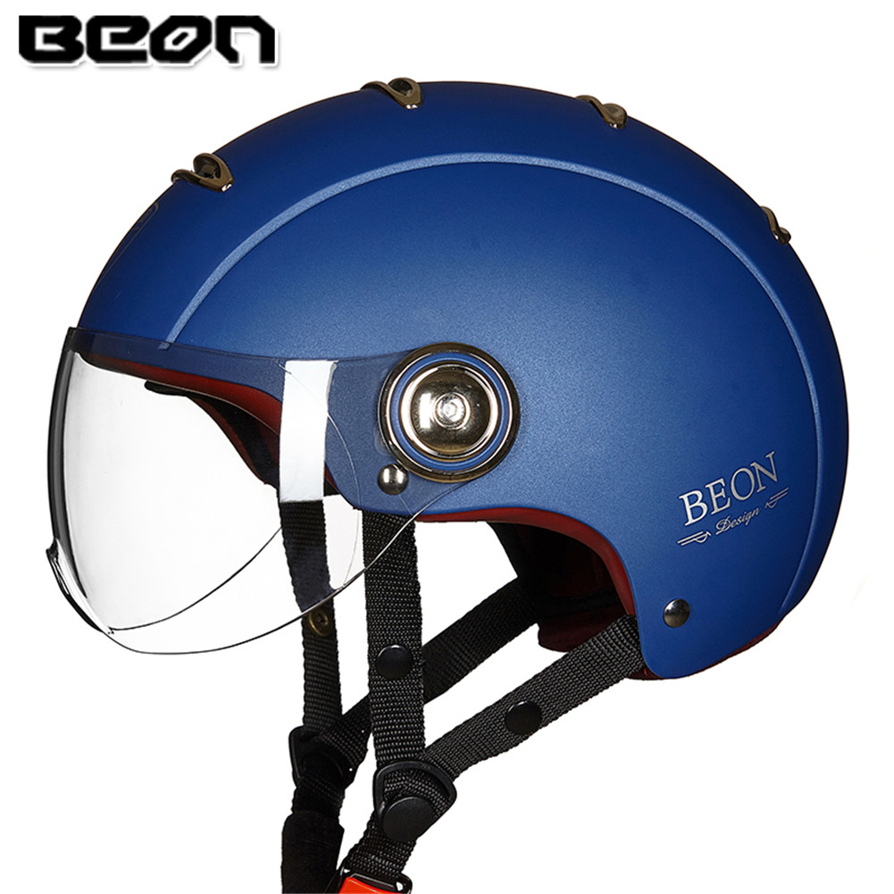 BEON B105 Motorcycle Helmet Half Open Face Moto Jet Motorbike Moto Scooter Helmets Motor Helm For Crash Casque Helmets