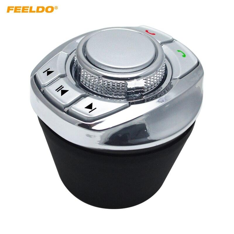 Feeldo cup forma 8 funções definidas pelo usuário do carro sem fio volante botão de controle para o carro android dvd/gps nv player # fd5677