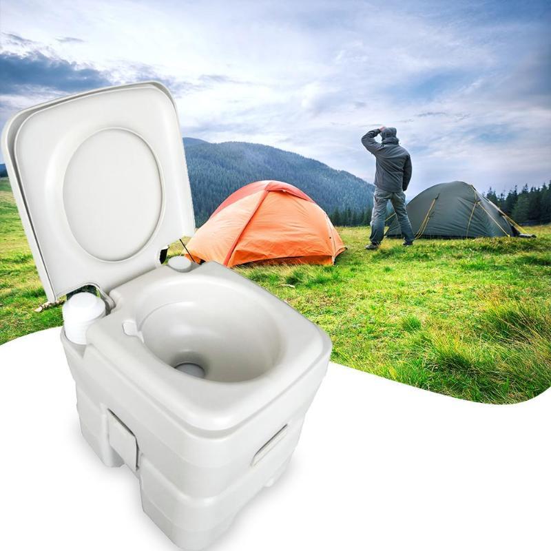 CHH 1020T de toilette amovible 20L mises à niveau de rinçage Portable peut déplacer toilette modifiée RV Camping en plein air voyage randonnée équipement