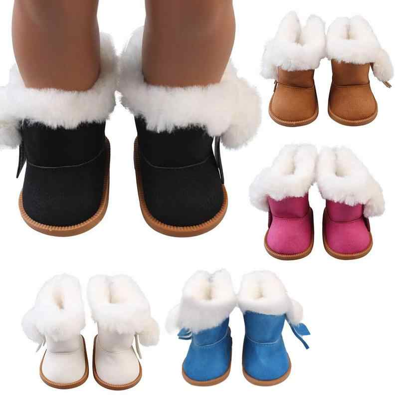 Doll Accessories  Plush Winter Snow Boots 18 Inch Dolls Mini Shoes Doll Snow Boots For Christmas Gift