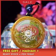 AURAREIKI Orgonite Energy Pendant Crystal Chakra Stone Reiki Smart Jewelry Resin Crafts Pendant Couple Love Pendant C0101