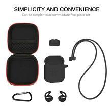 7 adet/takım Airpods için Earpods silikon kablosuz kulaklık kutusu AirPods için koruyucu kapak cilt aksesuarları kitleri için i10 i11 i13