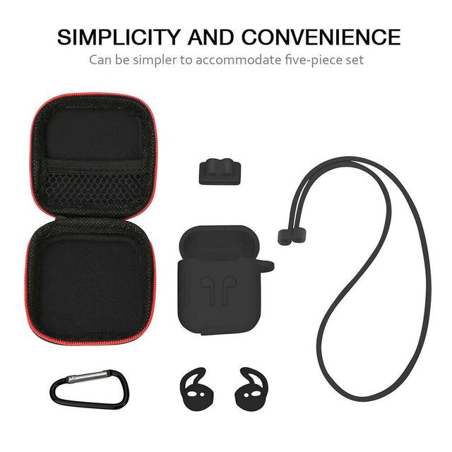 7pcs/set For Airpods Earpods Silicone Wireless Earphone Case for AirPods Protective Cover Skin Accessories Kits for i10 i11 i13