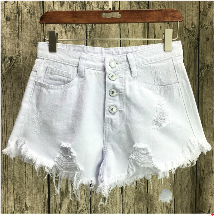 Sexy Jeans Shorts Women Summer Tassel Mini Denim Short Feminino Casual Vintage Jean Ripped Hole Shorts Plus Size S-3XL