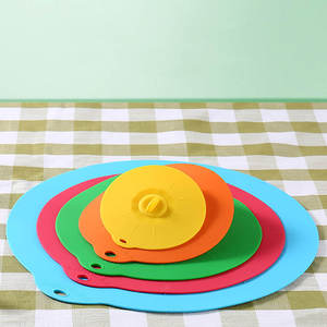 wu fang 1PC Pot Pan Lid Microwave Bowl Cover Silicone