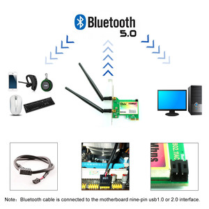 Image 5 - Ubit WiFi Card,AC 1730Mbps,Bluetooth 5.0 Dual Band Wireless Network Card, 9260 PCIe Adapter,PCI E Wireless for Desktop PC