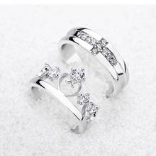 fbfb5ac42f Favolook Prince Princess Couple Rings Wedding Band His Her. US $0.81 /  piece Free Shipping