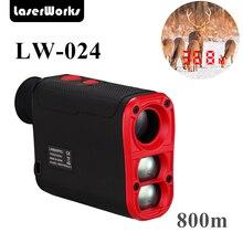 LaserWorks 800 yards Golf Hunting Laser Range Finder  Waterproof with inner Night Visible Readings