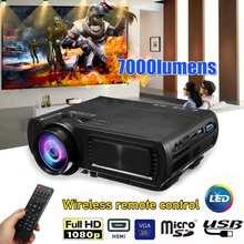 1080P 3D 7000 люмен светодиодный проектор домашний кинотеатр мультимедиа HDMI/USB/VGA