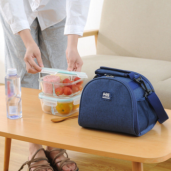 Waterproof Oxford Thermal Insulated Lunch Bag Portable Cooler Box Tote Fresh Keeping Food Fruit Bento Handbag Accessories Supply oxford thermal lunch bag insulated cooler storage women kids food bento bag portable leisure accessories supply product stuff
