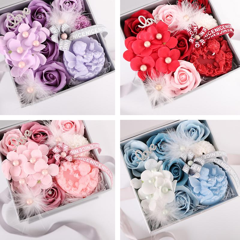 Best Wedding Gift For Girl: 2019 Valentine's Day Gift Simulation Rose Soap With Gift