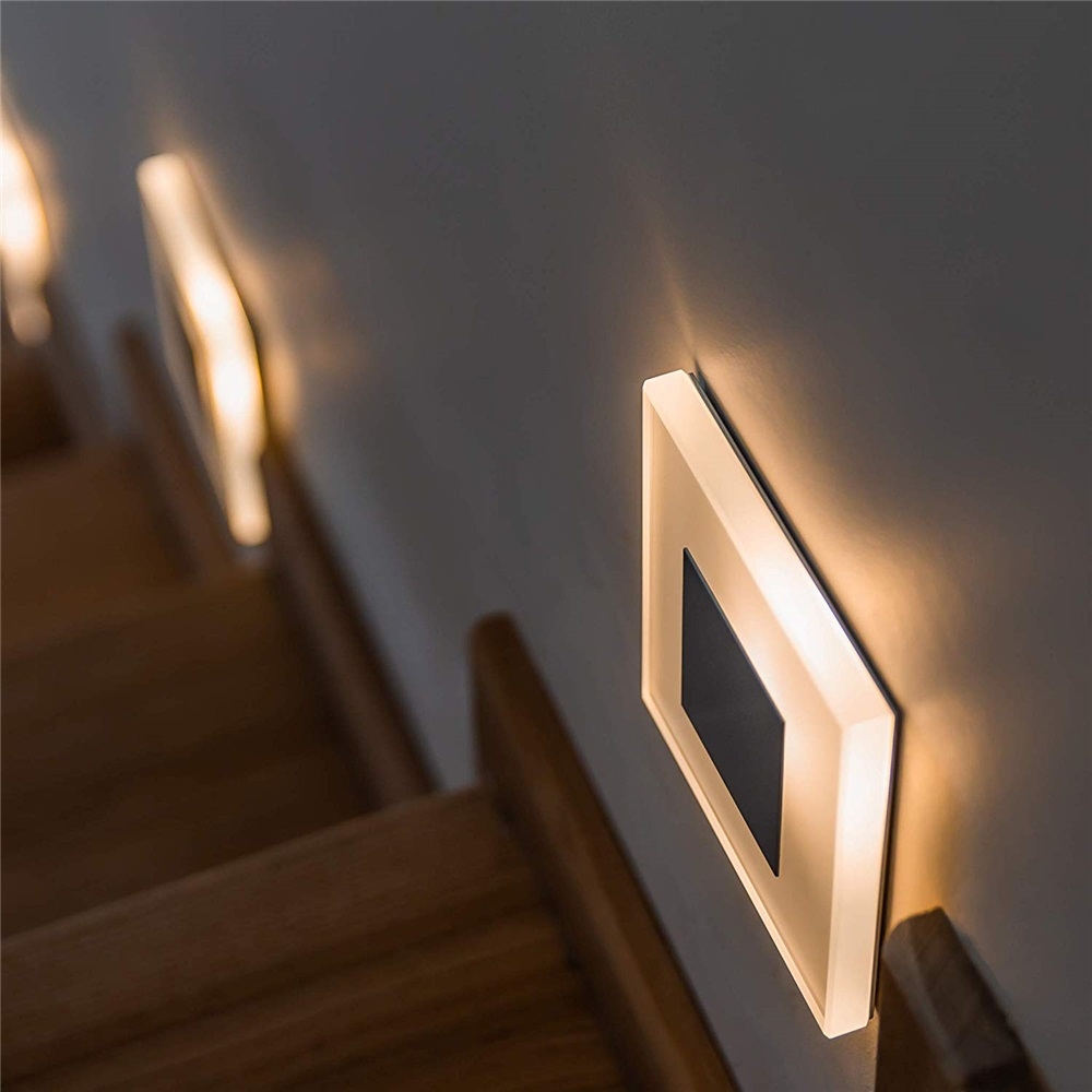 新 led ウォールライト 3 ワットアクリル壁燭台組み込みフットライト屋内階段装飾夜ライト現代の led ウォールランプ