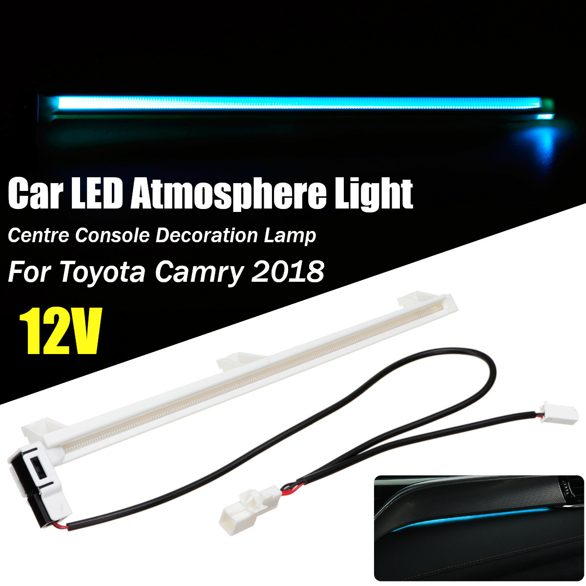 Car Inner Inside Interior Led Atmosphere Decorative Lamp Light For Toyota  Camry Altis XV70 2018 2019 For Daihatsu