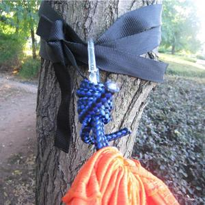 Image 5 - Camping Hammock Mosquito Net Portable Outdoor Garden Travel Swing Canvas Stripe Hang Bed Hammock 260*130cm