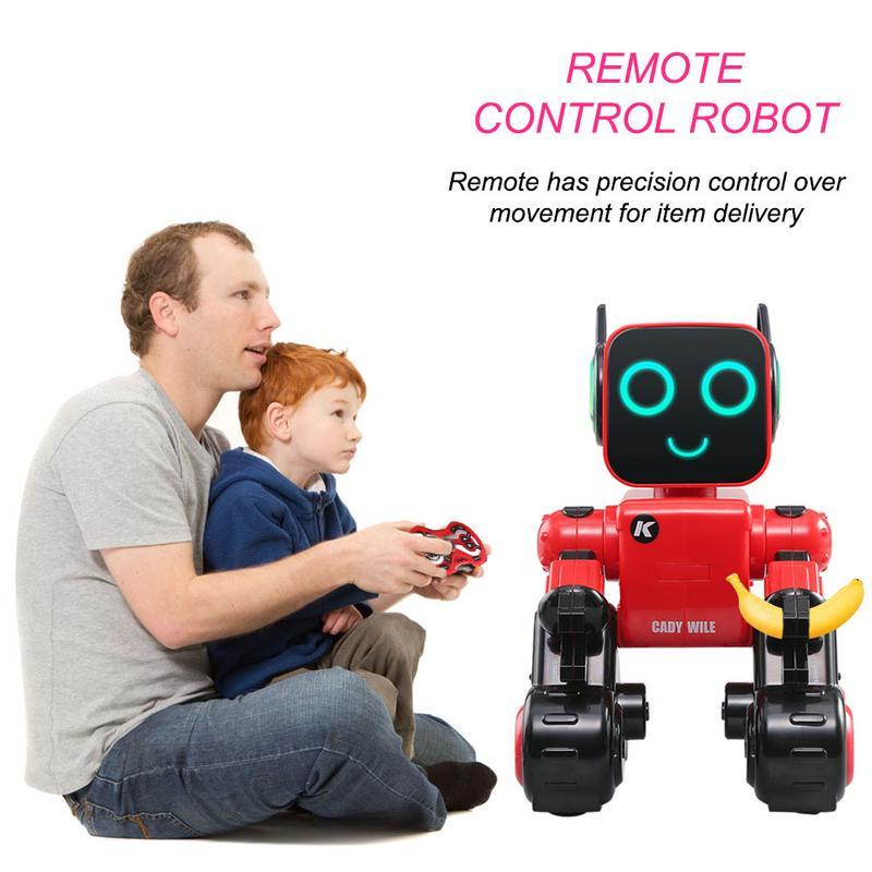 Jouet Robot pour enfants toucher et parler, danser jouer de la musique avec tirelire Rechargeable RC Robot Kit pour les enfants mignon